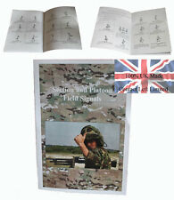 British Military Hand Signals Booklet - Official Section and Platoon Signals