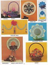 Starburst Sunburst Mirror & Easter Basket Patterns Macrame Housewarmings PD1153