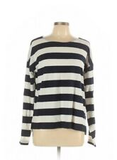 J. Crew Women's Blue & White Striped Pullover Sweater, Size L pre owned