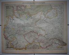 ▬► Carte Map - 🌍 ALLEMAGNE, POLOGNE, TCHÉCOSLOVAQUIE - Mer Baltique - 1920