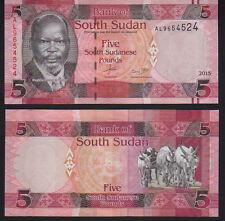 South Sudan 5 Libbre 2015, Pick 6b UNC Nuovo di zecca