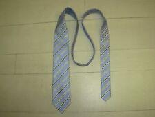 PIERRE CARDIN Cravate Homme bleu ciel rayée