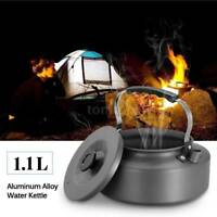 1.1L Portable Camping Pot Outdoor Hiking Survival Water Kettle Teapot Coffee Pot