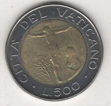 GIOVANNI PAOLO II VATICANO 500 LIRE BIMETALLICHE 1987 #MM25