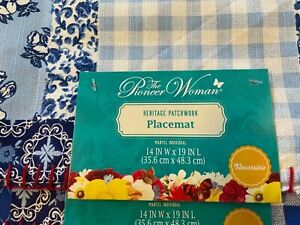 The Pioneer Woman HERITAGE PATCHWORK Placemat 4 piece set ,Brand new