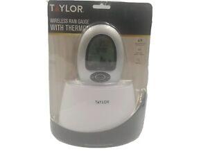 Taylor 2755 Digital Wireless Rain Gauge & Thermometer