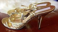 Michael KORS Size 9  Gold leather high heel sandals