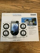 NEW Portable Speaker System isound quad X for Most Audio Devices-White