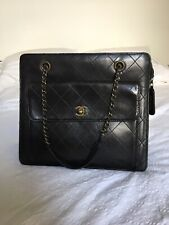 Beautiful Rare Vintage Chanel Handbag Black Leather