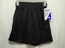 BNWT Mens Medium Ladies 16 LW Reid Black Elastic Waist Mesh Style Sports Shorts