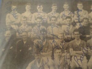 leicester city signed 1950s paper cutting