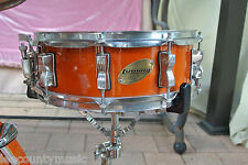"ADD this LUDWIG 14"" ACCENT CS CUSTOM SNARE DRUM in AMBER to YOUR DRUM SET! #J556"