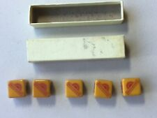 More details for brickwoods brewery portsmouth original set of poker dice with box (bakelite?)