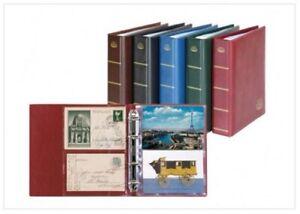 LINDNER Postkarten-Album LOTOS-weinrot NEU (5800-W) 01