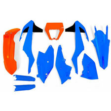 Fits KTM XCW125 2017 2018 Troy Lee Blue Orange Plastic Kit Plastics