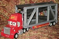 Disney Pixar Cars Mattel Mack Truck Open Hauler Transporter Semi Trailer 13' TOY