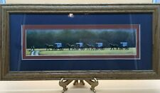 "Four Amish Buggies, Double Matted, Glass, Oak Framed PRINT, 8"" x 11"" Unsigned"