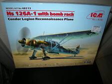 1:48 ICM hs 126a-1 with bomb rack cóndor legión reconomiento plane OVP