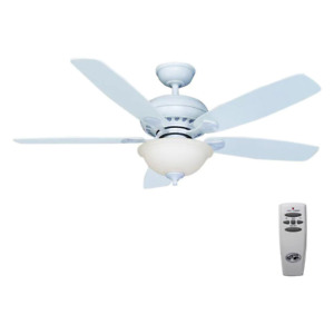 Dry Rated Ceiling Fan 5 Reversible Blades Light Kit Remote Control Indoor