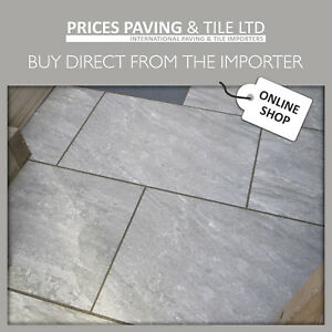 Full Bodied Rectified Porcelain Paving Tiles 900x600mm Grey Buff Light Dark