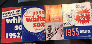 1952, 1953, 1954 & 1955 White Sox Yearbooks (set of 4)