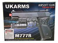"BBGUN M777R UKARMS SPRING POWER AIRSOFT LASER PISTOL GUN 6mm BB 5.5"" [BLACK]"