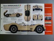 "1959 - 1961 Maserati Birdcage Coupe IMP ""Hot Cars"" Spec Sheet Folder 7-#6 L@@K"