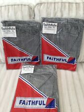 CHEFS TROUSERS NEW 3 PAIRS OF BLACK AND WHITE CHECKED SIZE XL
