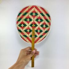 Thai Craft Hand Made Fan Bamboo Woven Blow Natural Color