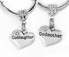 Goddaughter Godmother Charm Only set Goddaughter godmother jewelry godparents