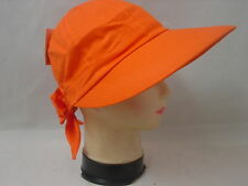 Ladies Wide Brim Sun Visor Cap Women's Golf Tennis Hat U V Fabric New