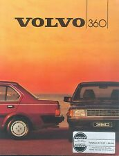 Volvo 360 Prospekt 1348-84 brochure 1984 Auto Autoprospekt Broschüre broschyr