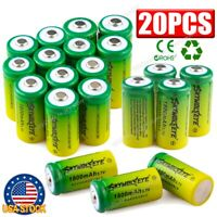20PCS CR123A 16340 3.7V Rechargeable Battery for Security Camera LED Flashlight