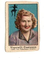 FIGURINA NANNINA  TECNICOLOR 1° SERIE  APRILE  1947   PATTINAGGIO  VIGORELLI