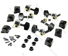 New Semiclosed Guitar String Tuning Pegs Tuners Machine Heads 3L3R Black