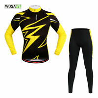 Mens Cycling Sets MTB Road Mountain Bike Jersey Trousers Tops Pants Gel Padded