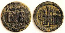 Spain-Felipe III. 1 Maravedi 1606. Segovia. Cobre 0,8 g. RARA