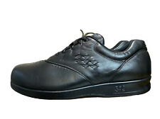 SAS Free Time Womens Black Leather Oxford Style Casual Comfort Shoes Size 10 W