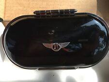 Bentley New Style Genuine OEM Eye Glass Case Gloss Black/ Beluga BlackLeather