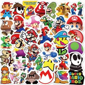 MARIO STICKERS PACK OF 50 MARIO WORLD KART SNES N64 YOSHI NINTENDO
