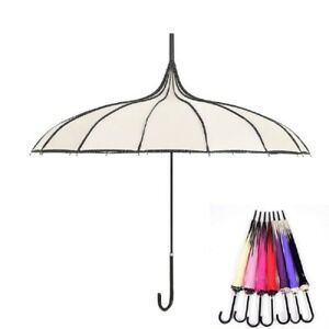 Women Long Handle Umbrella Windproof Gothics Tower Classical Old Style Accessory