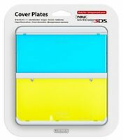 NEW Nintendo 3DS Cover Plates Kisekae plate No.021 Clear Blue x Yellow JAPAN F/S