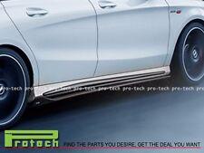 BENZ W117 C117 CLA250 CLA45 AMG REVO Style Carbon Fiber Add-on Side Skirt Cover