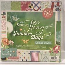 DCWV Spring Fling & Summer Days Combo Pack Cardstock 12x12 180 Scrapbook Sheets