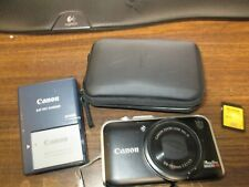 Canon PowerShot SX230 HS 12.1MP Digital Camera Black PC1587 w/ Case and Charger