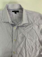 Banana Republic Slim Fit Button Up Long Sleeve Shirt Purple Work Causal Men's L
