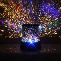 LED Rotating Starry Sky Moon Projector Night Light Starlight Universe Romantic