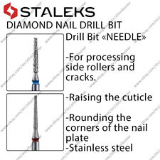 NEW Staleks Diamond nail drill bit needle for rollers and cracks, cuticle
