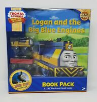 Thomas & Friends Wooden Railway - Logan and The Big Blue Engines Book Pack NEW