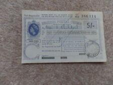 Rare Collectable 5 Shillings British Postal Order 1964 . Good Gift.